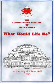1998 Saengerfest London Brochure cover