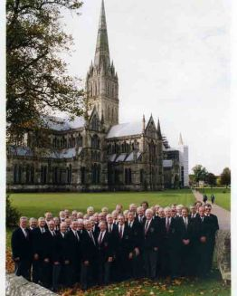 At Salisbury Cathedral October 1998