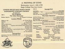 1999-06-02 Saengerfest _ London Welsh concert cd cover