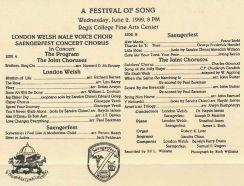 1999-06-02 Saengerfest _ London Welsh concert cd cover