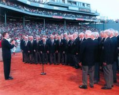 At Fenway Park with the Red Sox 2007