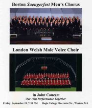 2008-09-19 London Welsh Joint concert at Regis Sep 19, 2008 (Program cover)
