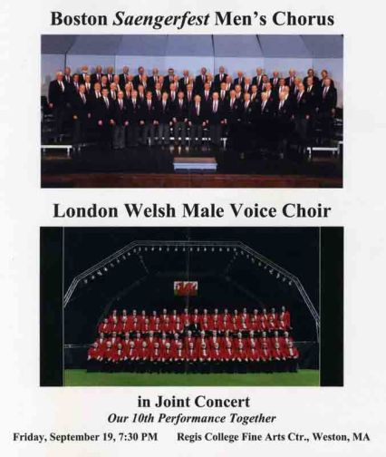 2008-09-19 London Welsh Joint concert at Regis Sep 19, 2008 (Program cover)