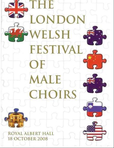2008-10-18 London Welsh Festival of Male Choirs - program cover