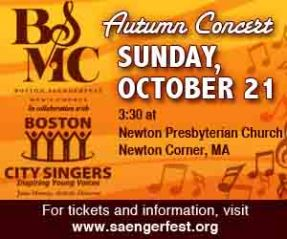 2011-10-21 BSMC with Boston City Singers Newton