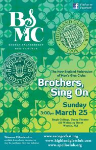 2012-03-25 New England Federation - BSMC, Apollo and Highland Glee Clubs March25poster