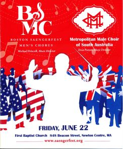 2012-06-22 Saengerfest _ Metropolitan Choirs concert Program Cover