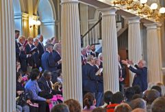 2012 Faneuil Hall Swearing In Ceremony - Singing in The Great Hall upstairs