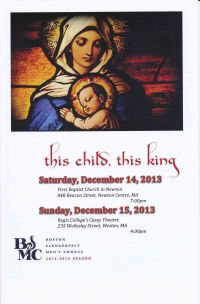2013-12-15 Christmas Concerts Program Booklet - front cover