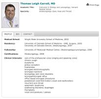 Dr Thomas Carroll - Profile