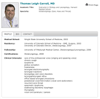 Dr Thomas Carroll - Profile