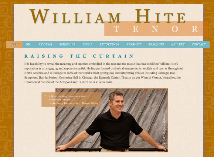 William Hite, Tenor