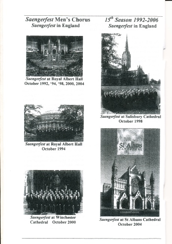 1992-2006 Saengerfest Chorus - pictures of concert locations - page 1