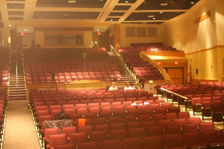 The 800 seat Natick Auditorium