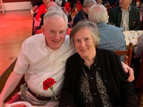 Bob and Susan McLellan at the Flamenco restaurant