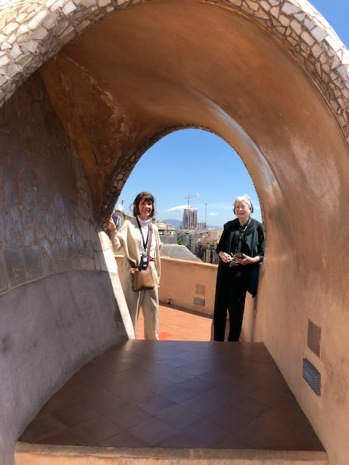 Cathy Floyd, Nancy Keith, Casa Mila (photo-Dick Floyd)