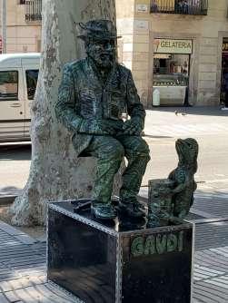 Gaudi street performaer, La rambla, Barcelona