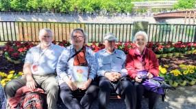 George and Ruth Ecker, George and Eileen Menzel, in Girona