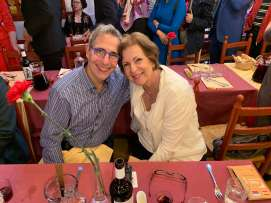 George and Stacey Kacoyanis at the Flamenco restaurant
