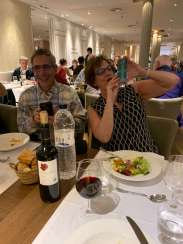 George and Stacey Kacoyanis, lunch in Madrid