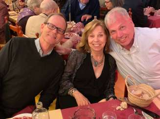 Jay and Beth Doyle and Andy Thain at the Flamenco restaurant