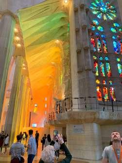 La Sagrada Familia interior lighting