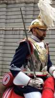 Royal Palace guard on horseback, Madrid