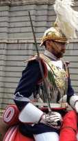 Royal Palace guard on horseback, Madrid