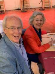Steve and Josie Foote at the Flamenco restaurant