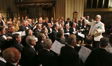 The Bath Male Choir in Bath Abbey PRESS PHOTO